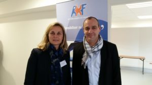 Laurent Berger et la directrice AHF
